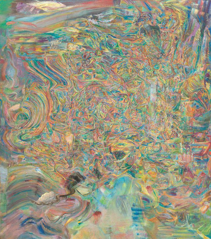 Wellen III,2020,Öl auf Leinwand,240x210cm
