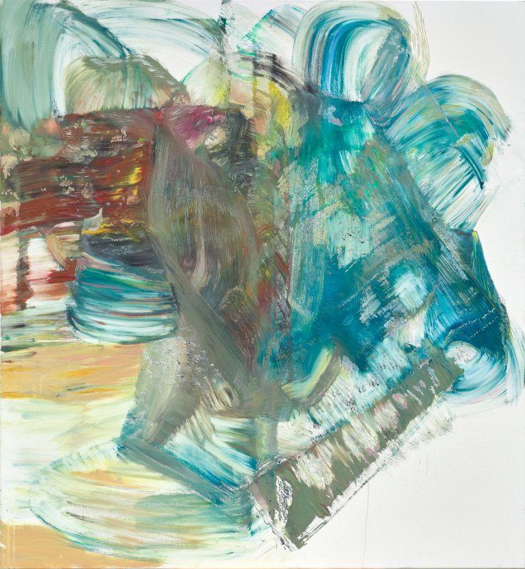 Wölbung (stehend),2019,Öl auf Leinwand,135x120cm