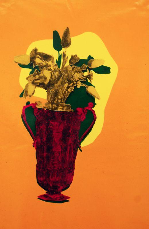 Gefässe,2013,Foliencollage,44 cm x 30 cm