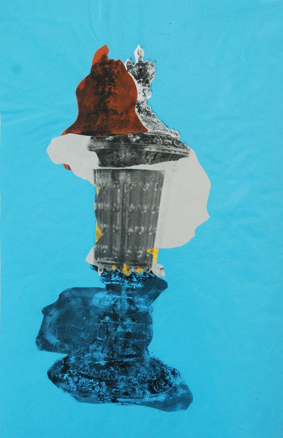 Gefässe,Foliencollage,44 cm x 30 cm