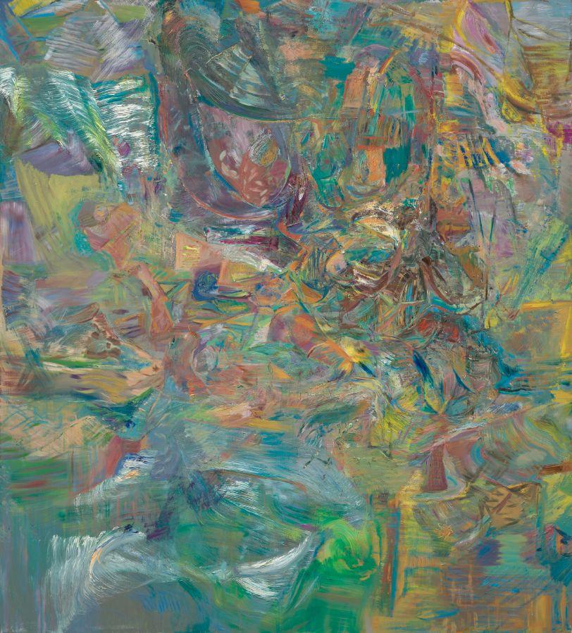 o.T. (weisse Welle), 2019, Öl auf Leinwand, 200x180cm