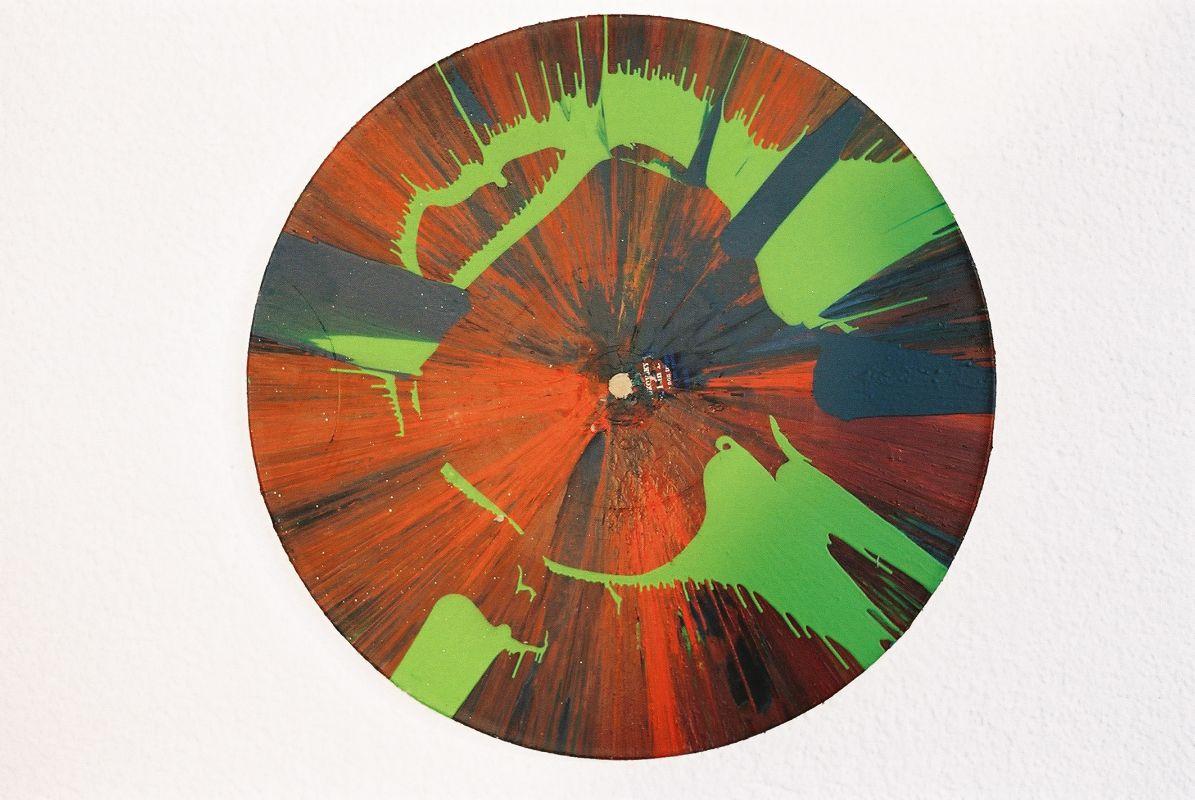strangelove,2007,Acryl auf Vinyl,(Schallplatte),Durchmesser  30cm