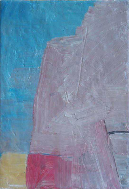 o.T.,2010,Öl auf Eisenblech,22x15.5cm