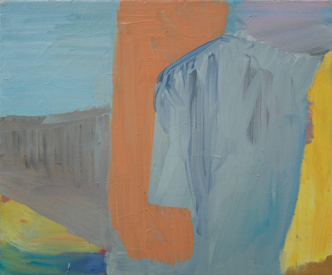 Nach links,2009,Öl auf Leinwand,60x73cm