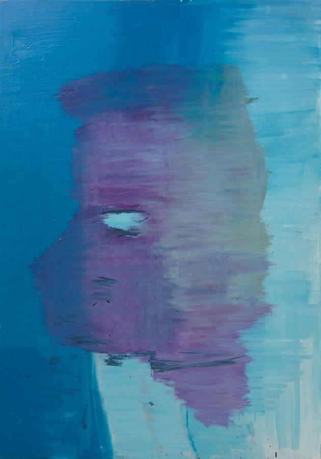 Faserblau,2009,Öl auf Leinwand,200x140cm