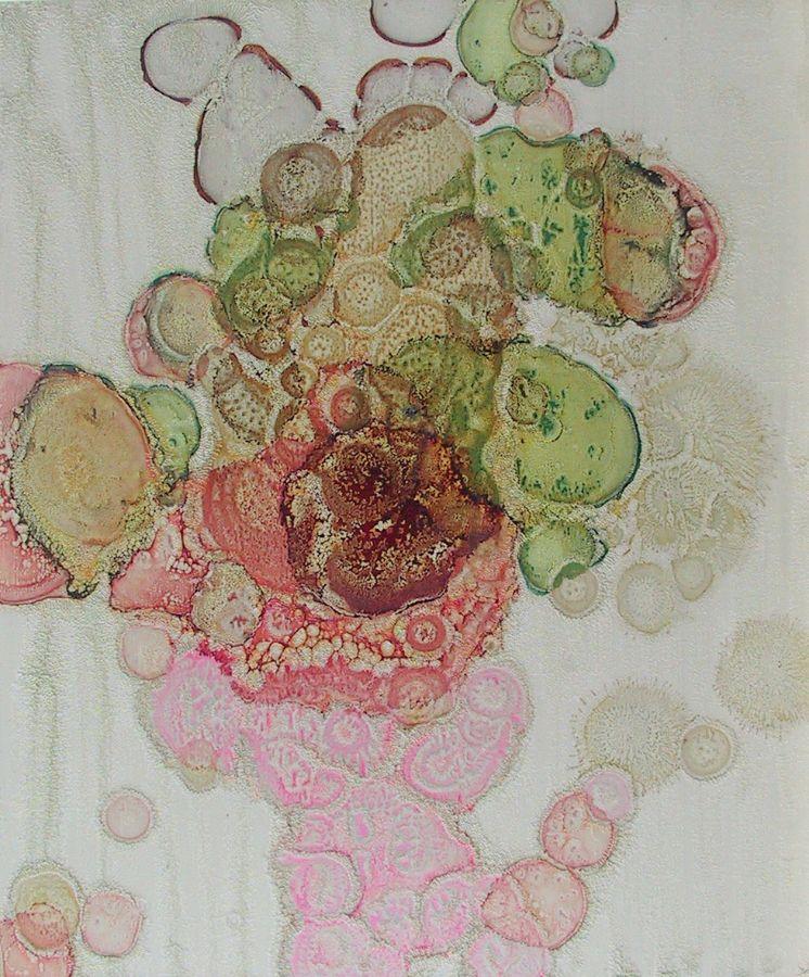 Blume,2003,Lack auf Aluminium,60x50cm,Privatbesitz
