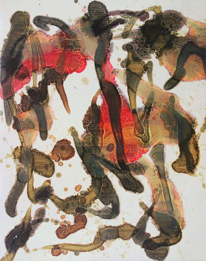 o.T.,2003,Lack auf Aluminium,120x98cm,Privatbesitz