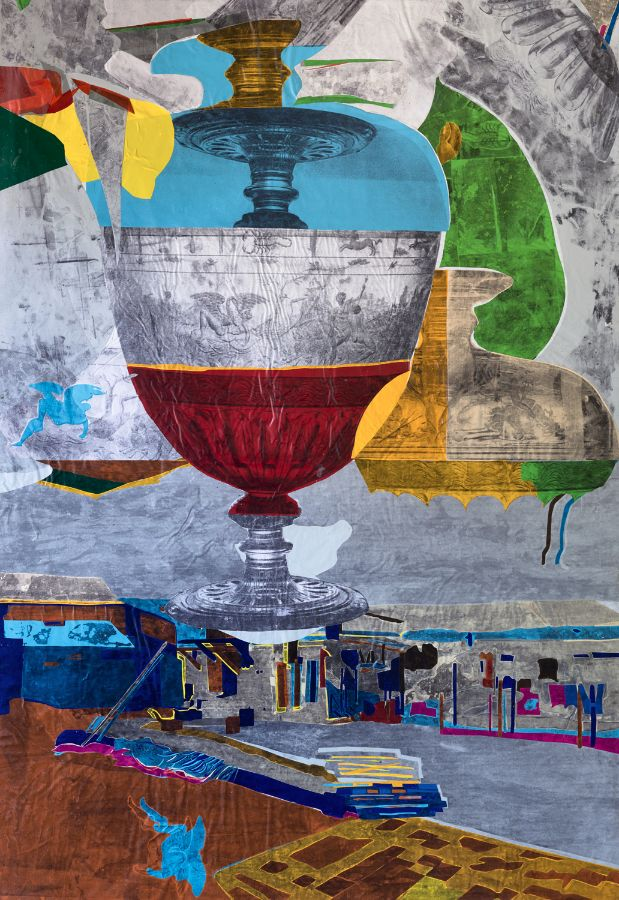 City Metaphor II,2014,Foliencollage,173x140cm