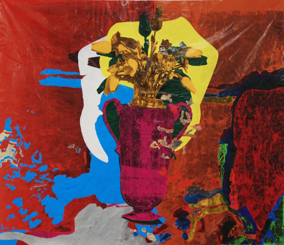 Meeresblumen,2014,Foliencollage,141x 164cm,