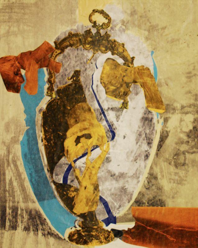 Strudel,2013, Foliencollage,125x100 cm