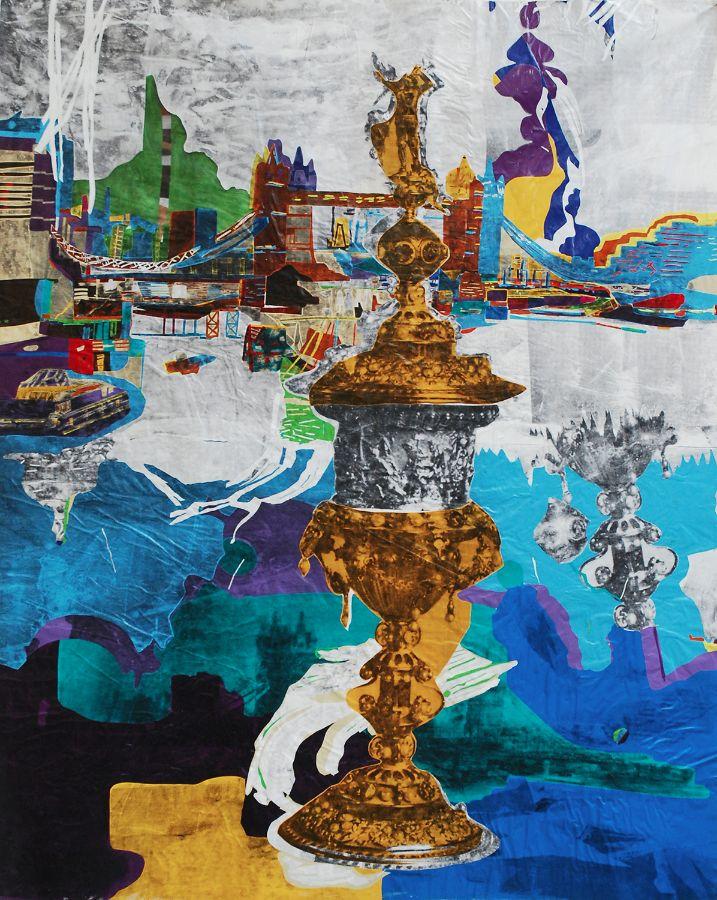 City Metaphor I,2014,Foliencollage,173x140cm,Pädagogische Hochschule Thurgau