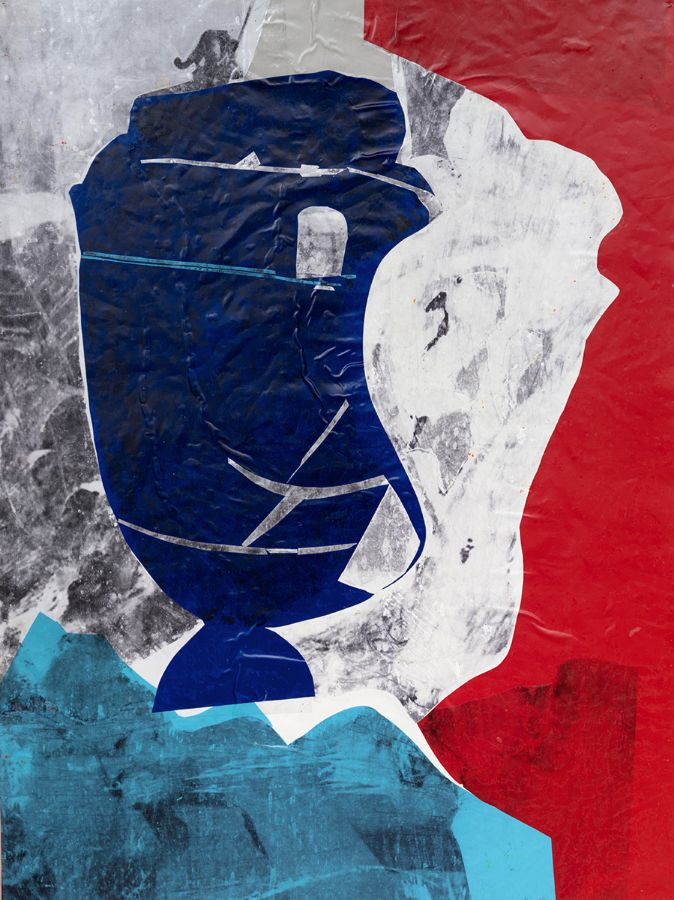 Monolog,2014,Foliencollage,115x87cm