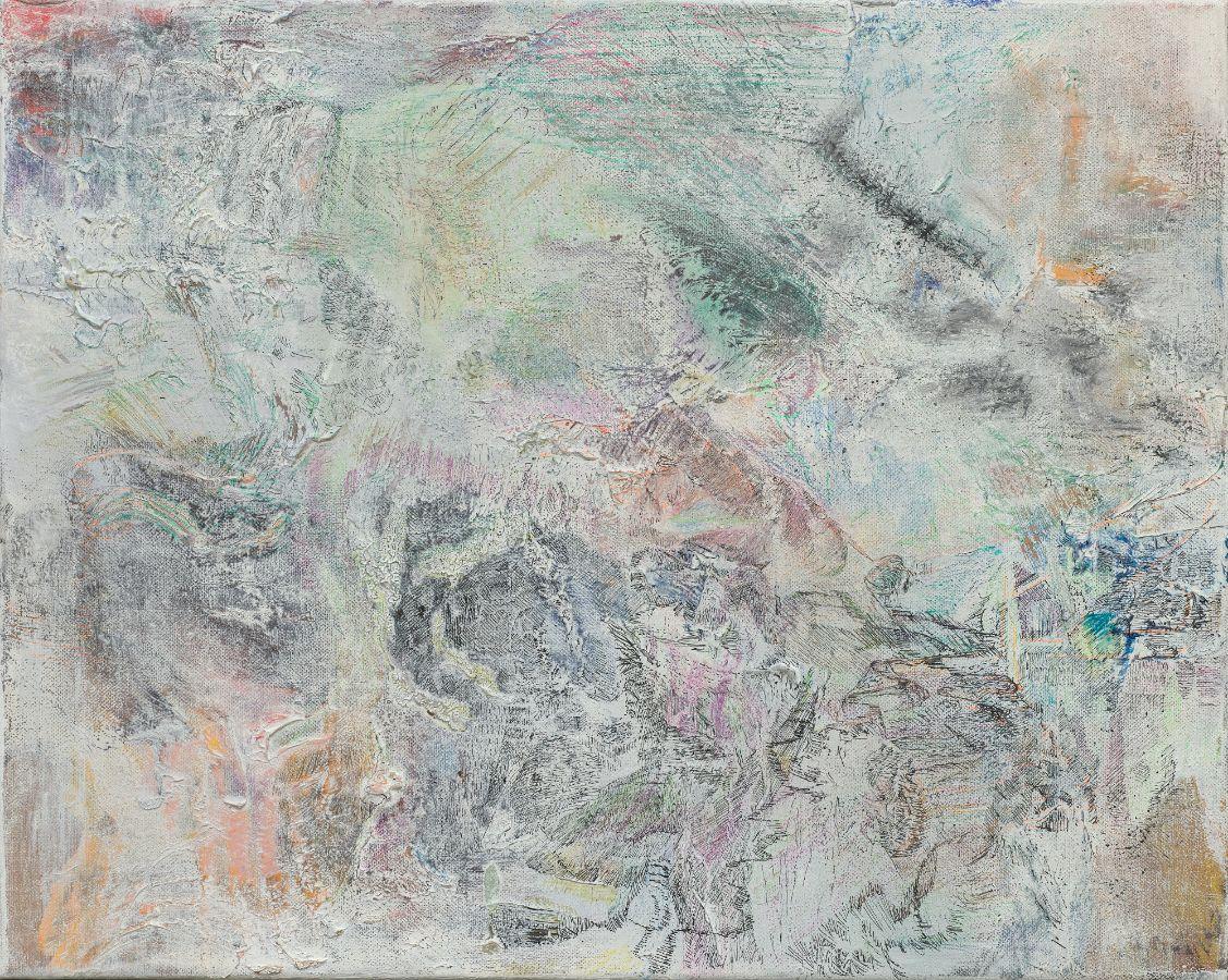 Landkarte1,2017,,Mischtechnik auf Leinwand,40x50cm