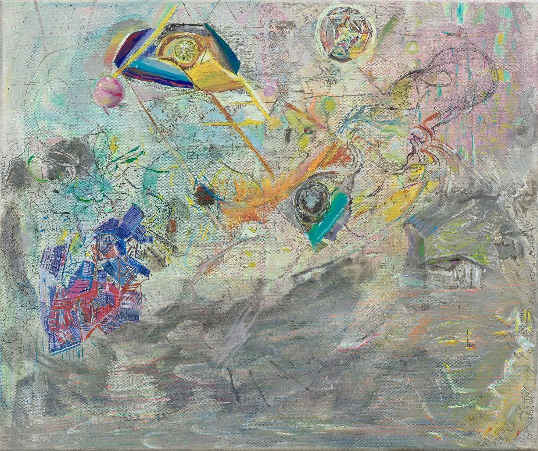 Sterne,2017,Mischtechnik auf Leinwand,50x60cm