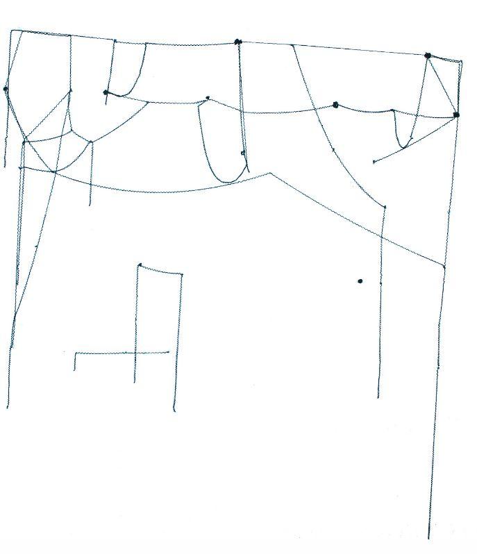 Fadenzeichnung,2013,Wollfaden,200x200cm