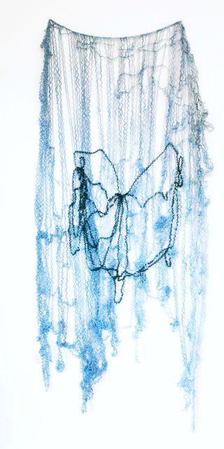 Spinne,2013,Wollfaden,90x30cm