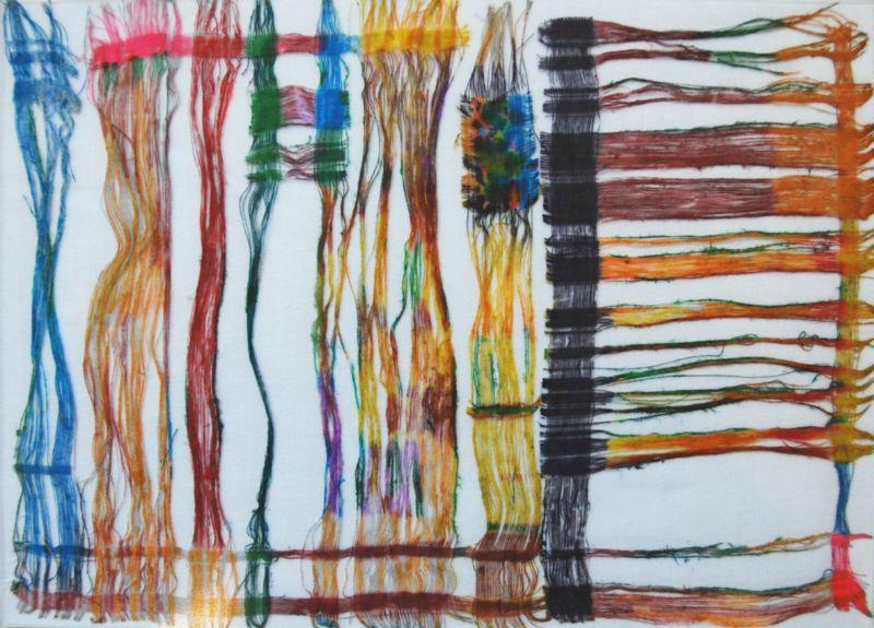 o.T.,2011,Stoff,22x 30cm