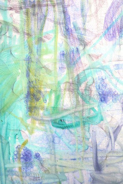2001(Ausschnitt),Kugelschreiber/Filzstifte auf Leinwand,190x110cm