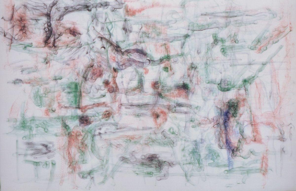o.T.2001,Kugelschreiber auf Leinwand,110x160cm UBS Wolfsberg,Ermatingen