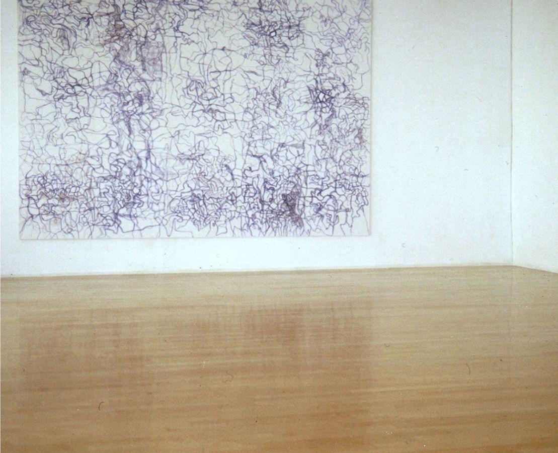 Trilogie,2002,Kugelschreiber auf MdF, 350x287cm,Katharinen St.Gallen