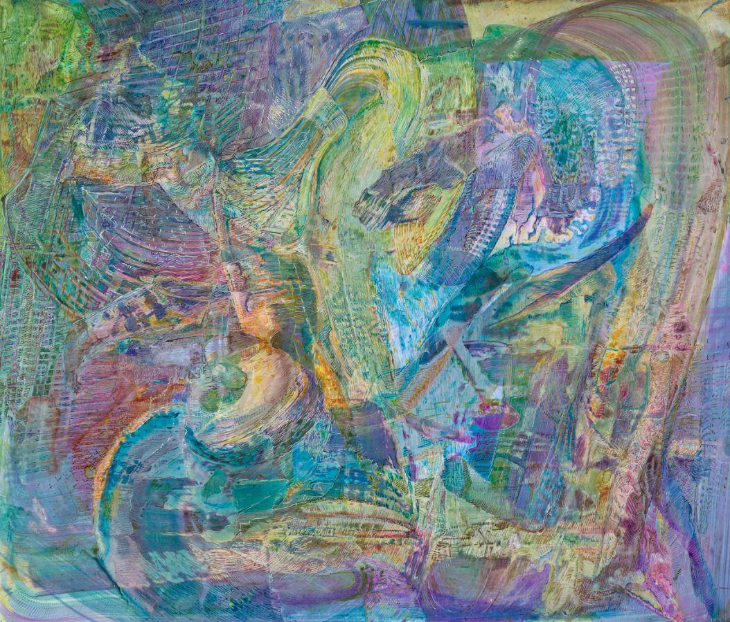 o.T.,2019,Schellacktusche auf Fotopapier,42x45cm