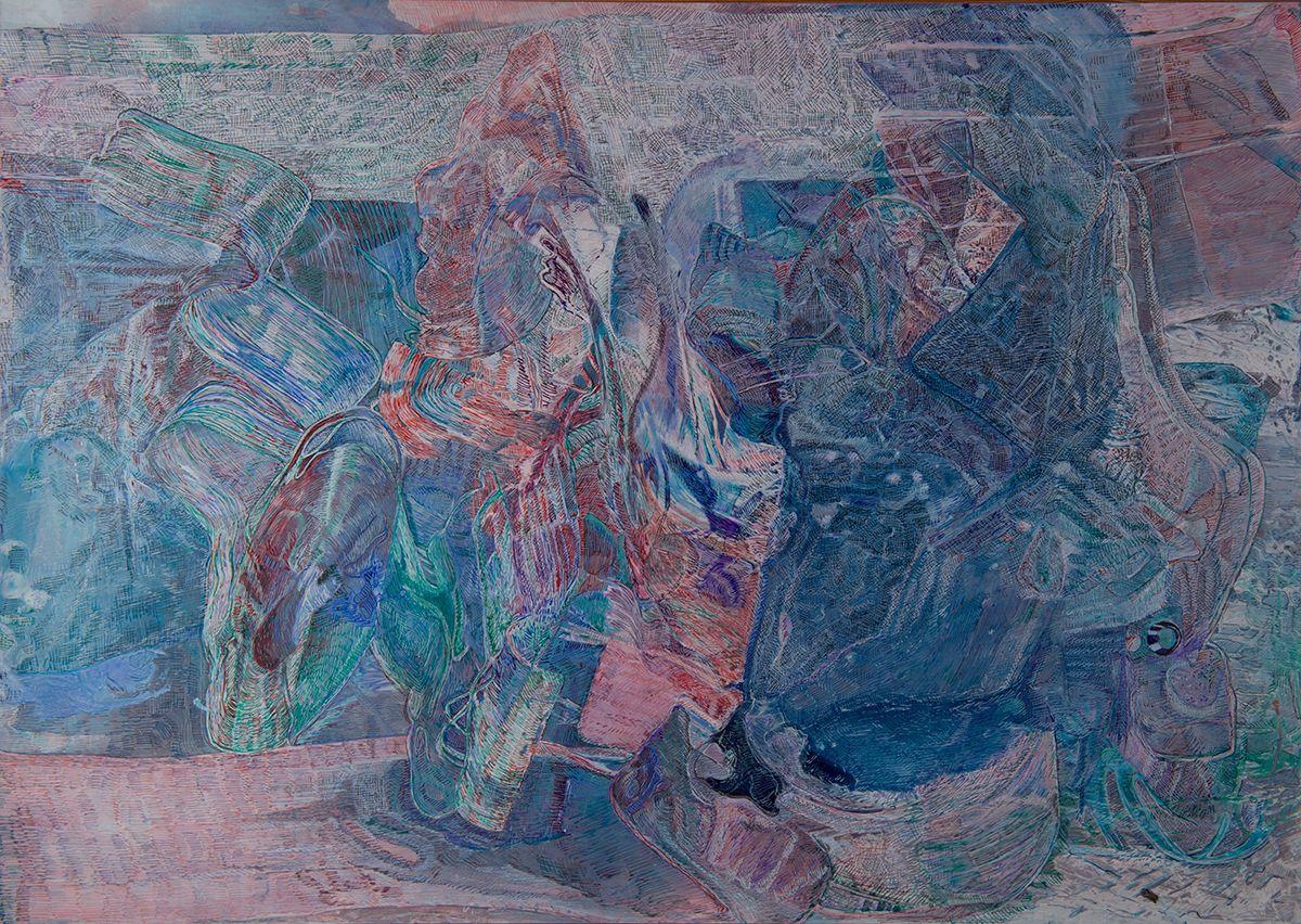 Gleitsicht,2019,Schellacktusche auf Fotopapier,42x59cm